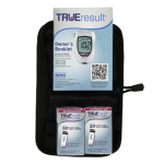 TrueResult Meter,100 True Test Strips,100 30g Lancets,Lancing Device,100 Alcohol Prep Pads